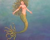 Card Set of 4  Mermaid Gr...