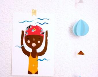 """Print """"Little Swimmer"""""""