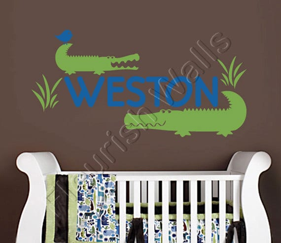 Items Similar To Alligator Wall Decal  Personalized Vinyl. Rustic Dining Room Tables And Chairs. Mosaic Home Decor. Outdoor Metal Art Decor. Large Decorative Wall Shelves. Book A Room. Cupcake Room Decor. Dining Room Decorating Ideas On A Budget. Small Decorative Christmas Trees