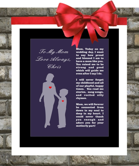 Wedding Gift From Parents To Son : Mother Of The Groom Gift From Son: Wedding Thank by Printsinspired