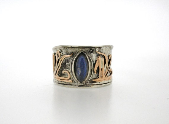 porans handcrafted silver gold ring moonstone unique by