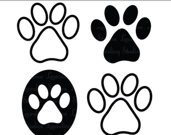 Clip art paw print | Etsy