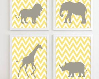 Safari Nursery Art, Zoo Nursery Print Animal Nursery Wall Art, Jungle Baby Nursery Decor Kids Art For Children Playroom