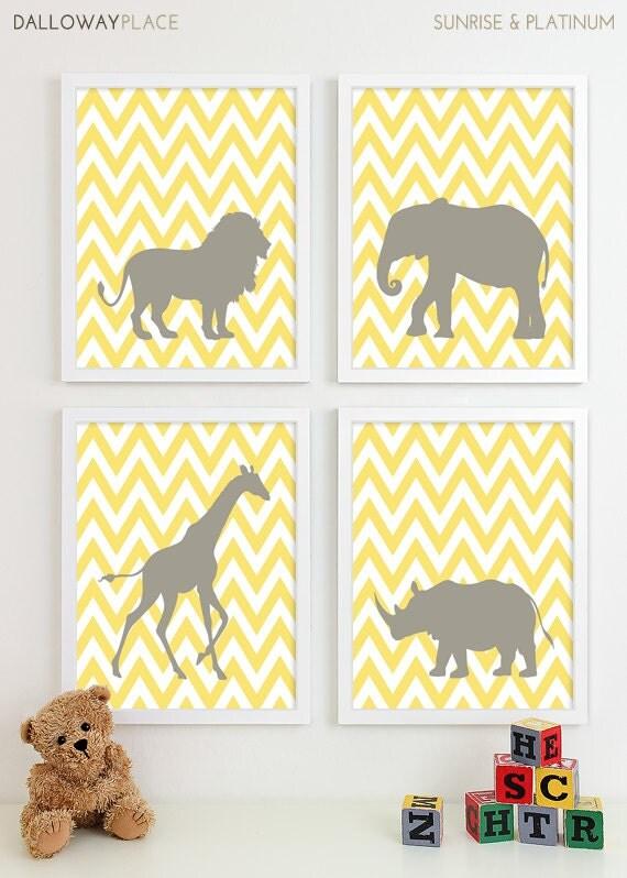 Animal Wall Art safari nursery art zoo nursery print animal nursery wall art