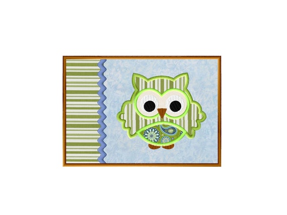 Mug Rug In The Hoop Owl Applique Embroidery By