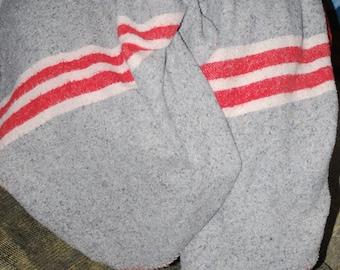 Vintage Indian Red Striped Blanket
