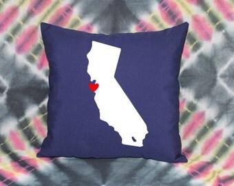 State Love Pillow - CALIFORNIA (San Francisco)