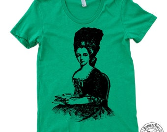 Women's VICTORIAN UPDO American Apparel Poly-Cotton Tee