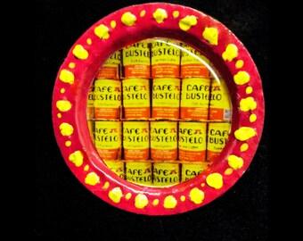 Bustelo Bottle Cap Pin Red & Yellow