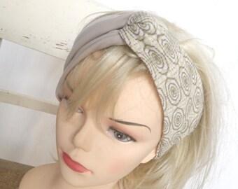 Sandy beach - bicolor turban headband headband Loop