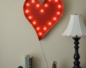 Vintage Inspired Marquee Light- Heart, home decor, shape, marquee letter, marquee light, letter, vintage, love, wall art
