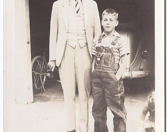 Vintage Photograph - Vintage Family Photo - Father and Son Photo - Vintage Photo