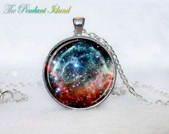 NEBULA JEWELRY Nebula Necklace Galaxy necklace Space pendant  Jewelry Necklace for him  Art Gifts for Her
