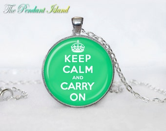 Keep calm and carry on necklace keep calm and carry on necklace keep calm and carry on pendant for men for her for women