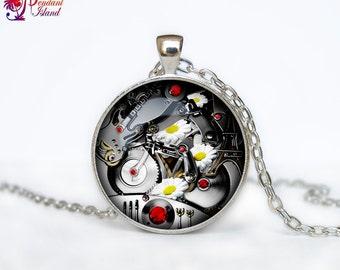 Steampunk clock necklace Steampunk watch pendant Steampunk clock Retro  necklaces