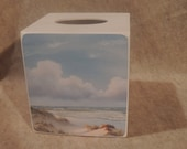 Sand Dunes - handmade wooden tissue box cover