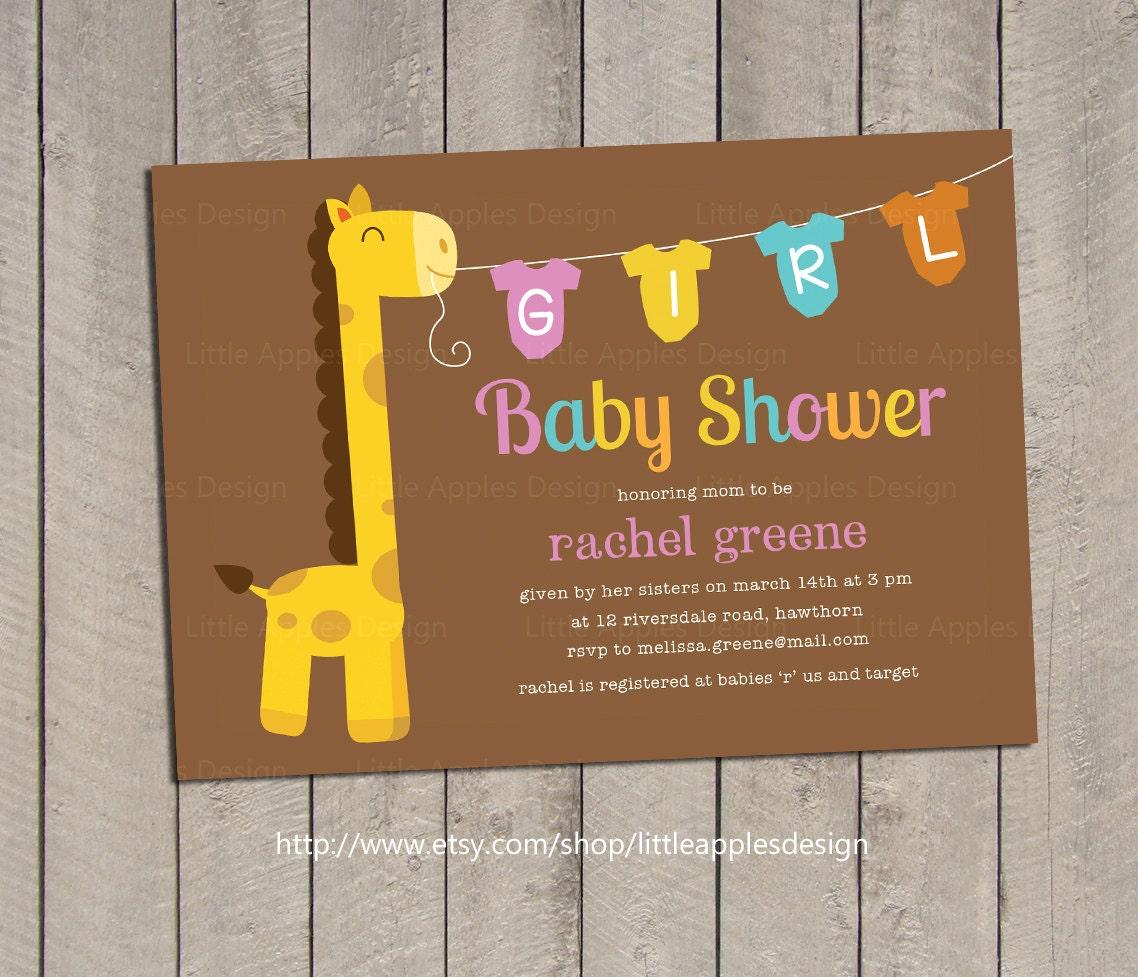 giraffe baby shower invitation giraffe baby shower invite