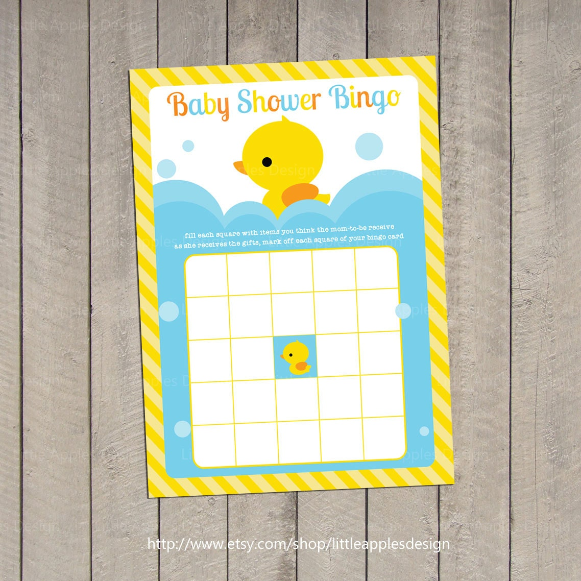 baby shower bingo rubber duck baby shower bingo by dreamyduck