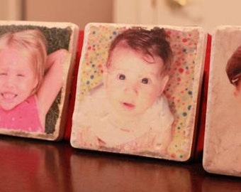 Personalized Photo Marble Coasters FREE SHIPPING