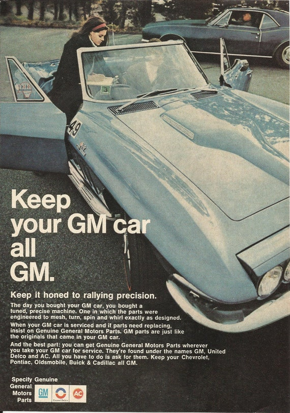 Genuine general motors parts original 1968 by vintageadorama for Genuine general motors parts