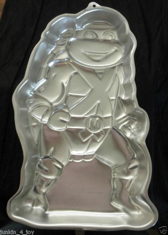 1989 Wilton Tmnt Mutant Ninja Turtles Cake Pan Mold By
