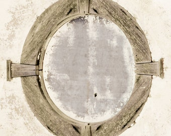 Rustic Art, attic window, oval window, rustic window, craftsman style, neutral, architecture, primitive architecture, Fine Art Photography