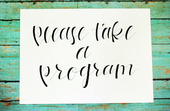 Custom calligraphy wedding signs escort cards place