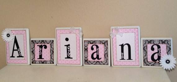 Items similar to nursery wall letters personalized custom for Baby name letters decoration