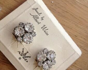 Vintage WEISS Rhinestone Earrings