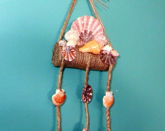 Sea Shell mobile with burlap