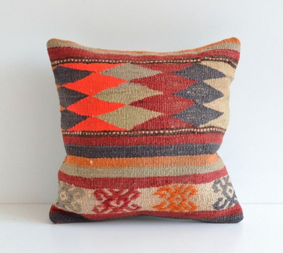 Kilim Floor Pillow Bohemian Shabby Chic Home Decor Pillow