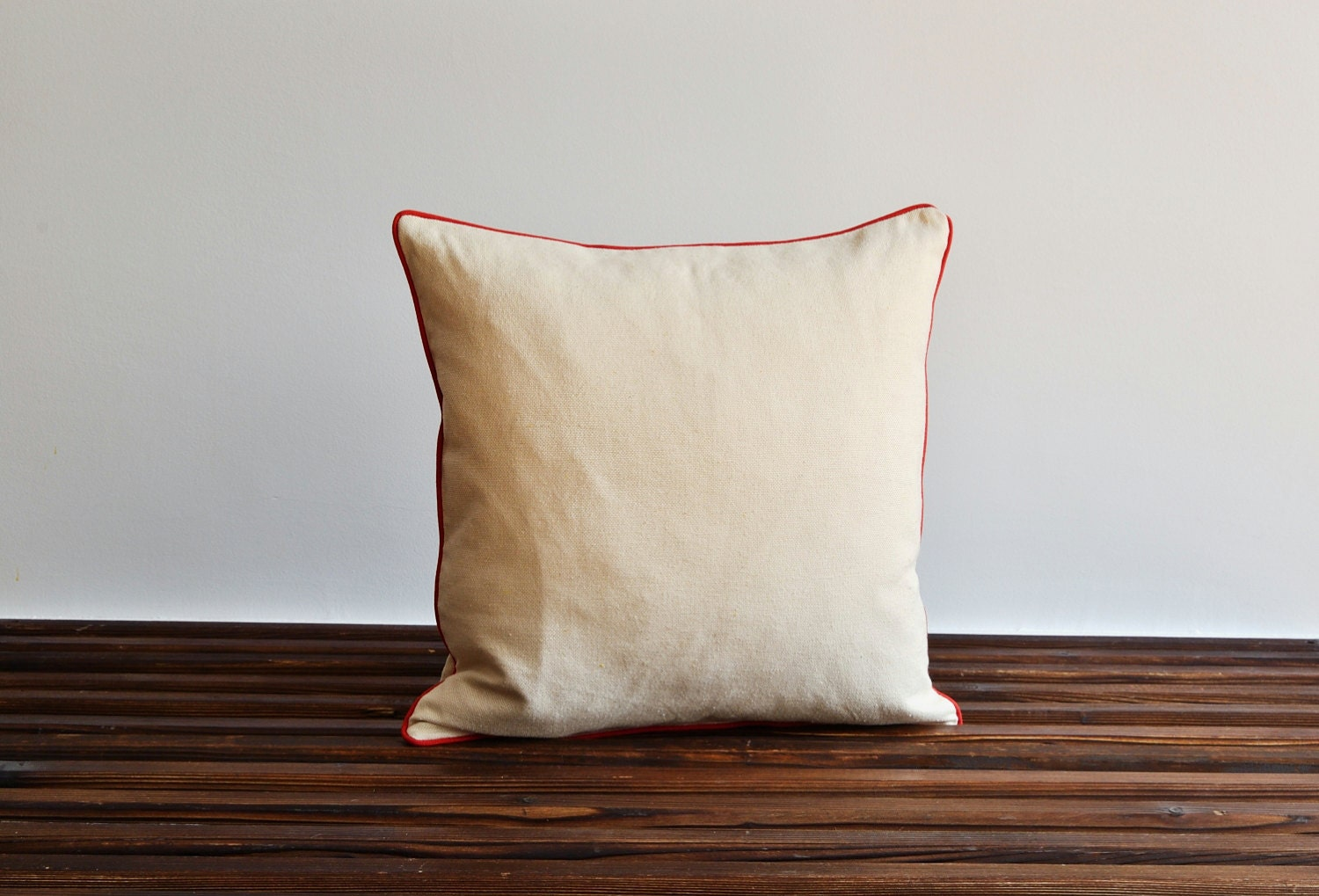 How To Make A Decorative Pillow With Piping : Pillow With Piping Modern Indoor Outdoor Decorative by pillowme