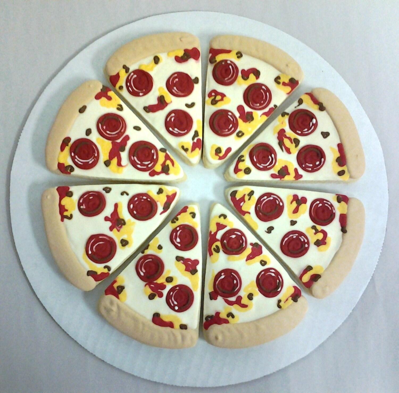 Pizza Cookies For Birthdays Best Pizza Cookies Pizza Slice