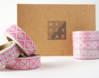 Pink Geometric Shape Washi Tape