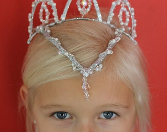 Ready to ship, beautiful handmade tiara perfect for a ballet variation, competition or just for dress up fun!