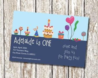 Sweet Treats Birthday Invitation - Printable and Personalised