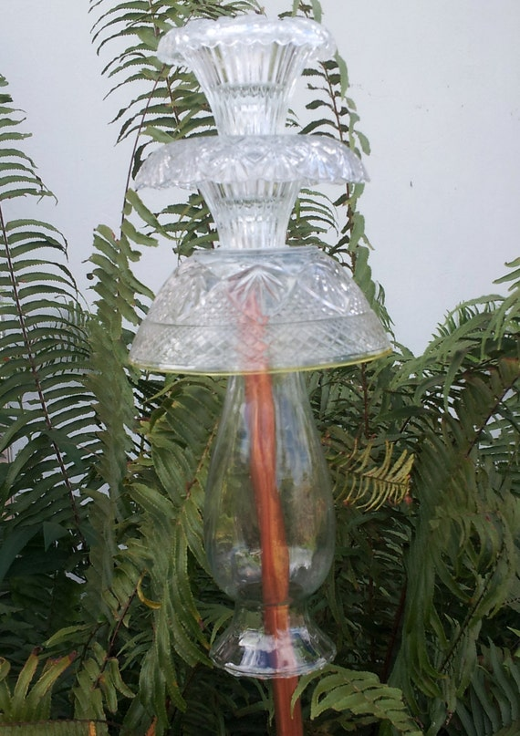 Glass garden totem waterfall by gardenglasscapes on etsy for Waterfall design etsy