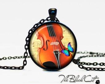 Violin pendant Violin necklace Violin jewelry for musician music pendant (PM0002)