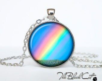 Rainbow pendant Rainbow necklace Rainbow jewelry (PR0001)