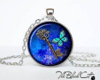 Steampunk key pendant Steampunk key necklace Steampunk key jewelry (PSK0002)