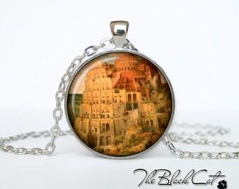 Tower of Babel pendant Tower of Babel necklace Tower of Babel jewelry The Tower of Babel by Pieter Bruegel the Elder