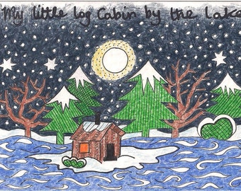 My little log cabin cards