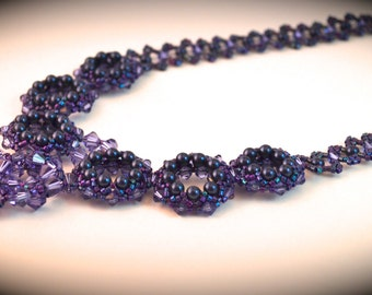 Tanzanite Swarovski Crystal Necklace