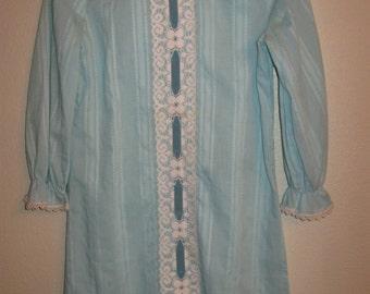 1960's Youngland Blue Cotton Girl's Dress