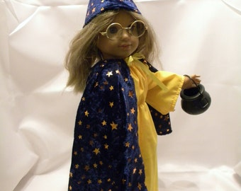 """Wizard Costume - Fits 18"""" American Girl Doll and all other 18"""" Dolls"""