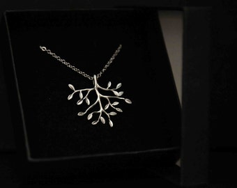 Silver Tree Branch Pendant Necklace, Gift for Her, Friend, Sister, Best Friend, Tree of Life