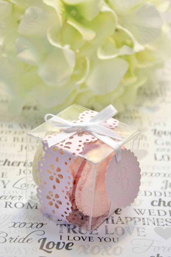 Wedding Favor Boxes For Macarons : ... Macaron, Favor BoxesSet of 30 Favor BoxesBridal or Wedding