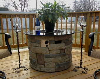 Hand Forged Hand Made Wrought Iron Outdoor Patio Deck Drink Can Glass Holder