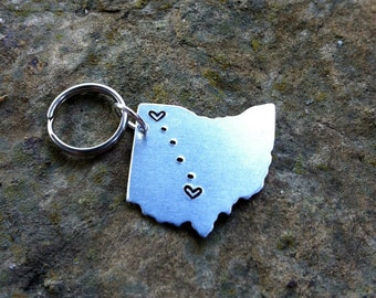Custom State Keychain - Long Distance Relationship Keychain - CHOOSE Your STATE - Long Distance Love Keychain_LDR_LDRship#STATEtrl