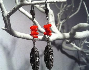 Boho Feather Earrings- Hypo-Allergenic